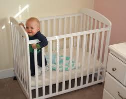 Mini Baby Crib Mini Cribs Mid Century Modern Bedroom Furniture Portable White