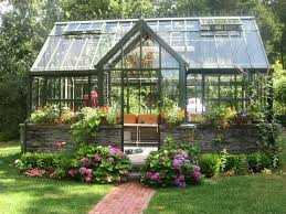 Landscaping Around House by Traditional Landscape Yard With Picture Window Chalet Greenhouse