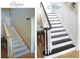 Staining Banister Stairway To Heaven Staircases Wainscoting And Stair Makeover