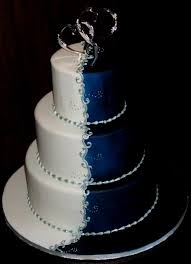 silver wedding cakes wedding cakes blue and silver wedding party decoration