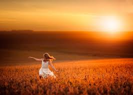 sun sunset nature wheat light children tuscany hd wallpaper