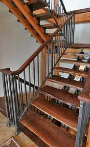 staircase railings wood and metal stair railing balustrade