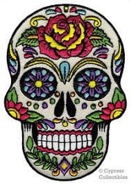 dia de los muertos sugar skulls sugar skull patch iron on embroidered dia de los muertos calavera