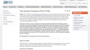 after security review irs shuts down online ip pin tool