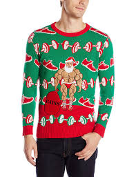 blizzard men u0027s xmas fitness ugly christmas sweater at amazon