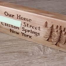 custom wood burned family established sign new home gift ven