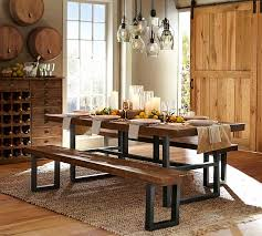 Pottery Barn Dining Room Tables Traditional Dining Room With Pendant Light By Pottery Barn