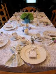 Formal Dining Setting Table Bridal Tea Table Setting