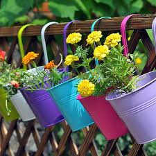 Metal Window Boxes For Plants - cat deterant idea mount a metal bar on the wall and hang pots of