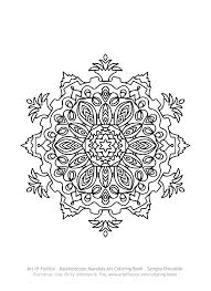 free kaleidoscope mandala coloring page to print u2013 art of foxvox