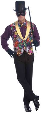 mardi gras costumes men forum masquerade party costume multi colored one size