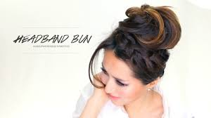 how to headband braid messy bun hairstyles video dailymotion