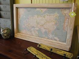 Map Fabric A Pin Board Made With Awesome World Map Fabric And A Vintage