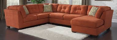 Ashley Furniture Leather Sectional With Chaise Buy Ashley Furniture 1970138 1970134 1970117 Delta City Rust Raf