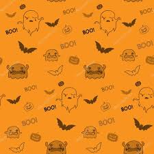 halloween seamless background halloween ghost bat pumpkin seamless pattern background u2014 stock