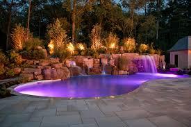 Colored Landscape Lighting Color Fiber Optic Led Pool Lights Saddle River Bergen County Nj