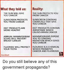 what they told us the sun will give you cancer the sun
