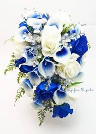 Wedding Flowers Blue Fountain Blue Wedding Flower Brides Collection Absolutely