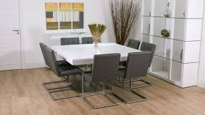 Square Glass Dining Tables Chair 12 Seater Dining Table Modern Design With Chic Square Cute