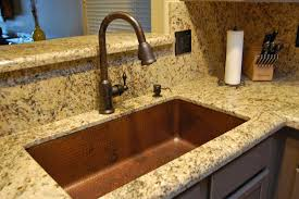 Stainless Steel Sink With Bronze Faucet Copper Kitchen Sinks Copper Kitchen Sink Dark Smoke Finish