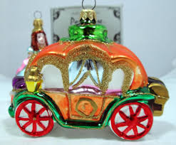kurt adler polonaise cinderella and coach ornament