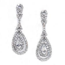 cubic zirconia earrings pave cubic zirconia dazzling drop earring