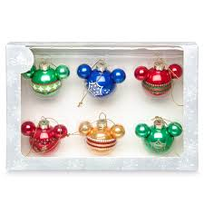 your wdw store disney ornament set mickey icons rainbow