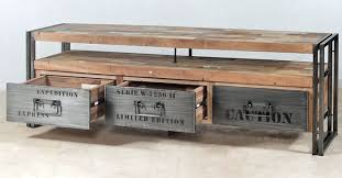 Rustic Tv Console Table Salvaged Boat Wood Tv Console 3 Drawers Samudraimpact Imports