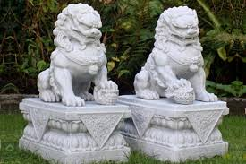 fu dogs for sale fu dogs lion statues pair in front of house for sale