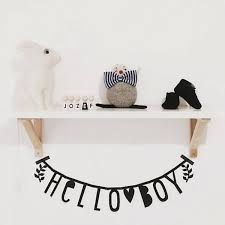 lettre decorative pour chambre bébé guirlande lettres noir a lovely company l home fr