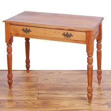 Small Pine Desk Small Pine Desk Ebth