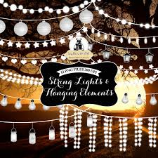Hanging String Lights by White String Lights Clipart 49