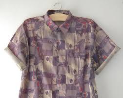 90s mens silk shirt etsy