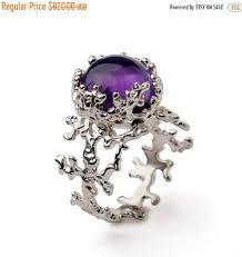 black and purple engagement rings black friday sale coral 14k gold amethyst ring purple amethyst