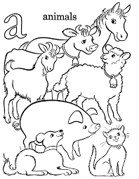 alphabet coloring pages printable a for animals alphabet