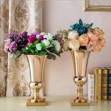 vasi decorativi grande diamete tavolo in metallo vaso di fiori decorativi alti