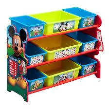 9 bin plastic toy organizer disney mickey mouse delta children