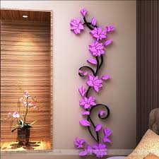 Home Decor 3d Stickers | free shipping flower hot sale wall stickers home decor 3d wall