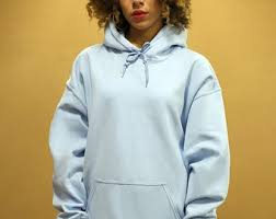 plain light blue hoodie woven hoodie etsy