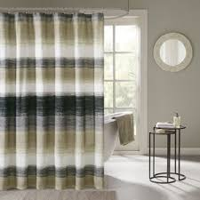 Navy And White Striped Shower Curtain Striped Shower Curtains You U0027ll Love Wayfair