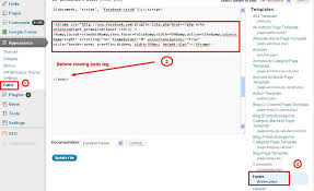 how to add facebook like button in wordpress blog