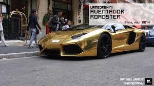 lamborghini aventador gold a golden lamborghini aventador roadster youtube