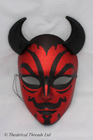Theatrical Threads Halloween Devil Masks Red And Black
