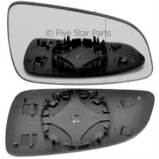 Door Mirror Glass by Right Driver Side Wide Angle Wing Mirror Glass For Vauxhall Astra