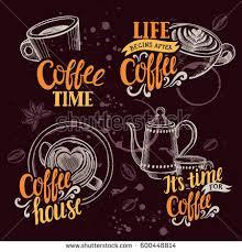 coffee menu graphic element restaurant cafe stock vector 600448814