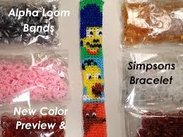 bracelet color bands images Alpha loom band new colors preview simpsons bracelet pattern jpg