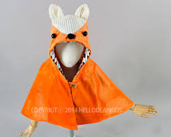 halloween fox kid u0027s sewing pattern pdf fox cape fox manteau kids