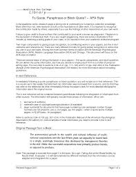 how to write an apa style research paper block quotes in apa format quotesgram block quotes in apa format