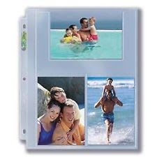 Photo Album Pages 4x6 10 Ultra Pro 4x6 Photo Postcard 3 Pocket Album Binder Pages Index