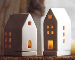 roost porcelain tealight houses set of 3 next day shipping
